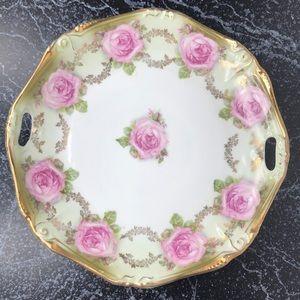Vintage shabby chic rose trinket dish
